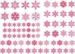 D108WV Snowflakes sheet A5 – White Velvet