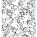 D129.2BL Outline butterflies composite – Black A4