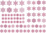 D108VI Snowflakes sheet A5 – Violet iridescent