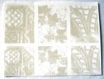 D111 Lace texture – 3 designs  8x6cm/6cm sq x 3