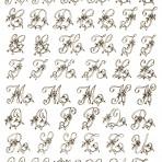 D20S Floral monograms 23mm – silver (A4)