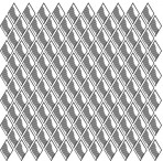 D36.11S Trellis sheet A4 – Shiny platinum