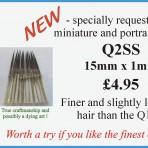 Q2SS No.1 detail brush 15mm x 1mm