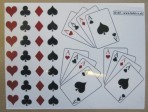 D145 Playing cards decal A5