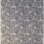 D137B A4 sheet – Paisley – BLACK