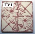 "TV1 Victorian tile – 6"" square"