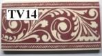 "TV14 Victorian border tile – 6"" x 3"""