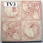 "TV3 Victorian tile – 6"" square"