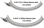 D127 Raised Paste border sections design for 7.25″and 8″ plate