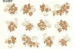 D42G 12 floral sprays – bright gold (A5)