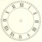 "D6.1S Roman clock face 6"" – silver"