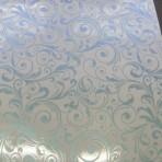 D135.2-220 Large scrolls Blue/Pink glitter