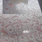 D135.2-222 Large Scrolls Gold/Burgundy glitter