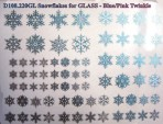 D108.220GL Snowflakes A5 – Blue-Pink twinkle/Glass