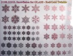 D108.222GL Snowflakes A5 – Red-Gold twinkle/Glass