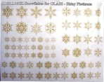 D108.L16GL Snowflakes A5 – Shiny Platinum for Glass