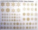 D108.L16GL Snowflakes A5 – Shiny Platinum for Glass