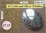 D106.4GS A5 Gold & Silver Pebbles