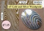 D142GS A5 Gold & Silver Woodgrain