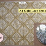 D106.21G A4 Gold Lace – 6cm repeat