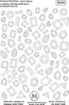 D104 Soft line drawings (A4) – Gemstones