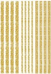 D117G Tracery borders – 3 sets of 4 – GOLD (A4)