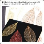 "D118.1 Skeleton leaves (3 sheets 4""x 5"") – Autumn"