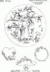 D90.10 Birth plate decal – Karin Waldis tree design – 6.5""