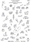 D90.12 Soft line drawings (A4) – toys