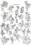 D90.4 Soft line drawings (A4) – fairies