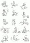 D90.8 Soft line drawings (A4) – little bears