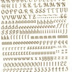 D10.3BR Letters 12mm – brown (A4)