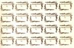 D12.2 Floral backstamps (20) 54mm – gold (A4)