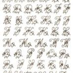 D20BR Floral monograms 23mm – sepia (A4)