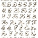 D20G Floral monograms 23mm – gold (A4)
