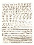 D21.2G Script letters 12mm – bright gold (A4)