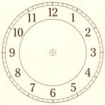 """D26.1BR Arabian clock face 6"""" – sepia"""
