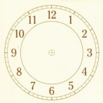 "D26.1G Arabian clock face 6"" – bright gold"