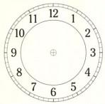 """D26.2BL Arabian clock face 7"""" – black"""