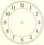 """D26.2BR Arabian clock face 7"""" – sepia"""