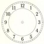 """D26.3BL Arabian clock face 3.25"""" – black"""