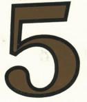 D29.1-5 No. 5 42mm sepia/black outline