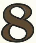 D29.1-8 No. 8 42mm – sepia/black outline