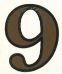 D29.1-9 No. 9 42mm – sepia/black outline