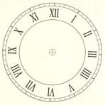 "D6.1BR Roman clock face 6"" – sepia"