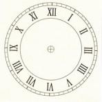 "D6.3BL Roman clock face 3.25"" – black"