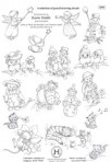 D90.1 Soft line drawings (A4) – cute selection