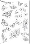 D90.3 Soft line drawings (A4) – butterflies