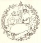 "D9B.1 Wedding plate – mice 5.25"" – sepia"
