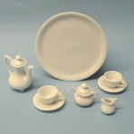 "J187 Mini tea service with tray 3""d"